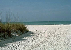 Crescent Beach across the street from The Anchorage on Siesta Key, Sarasota, Florida